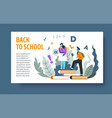 online education and knowledge landing web page vector image vector image
