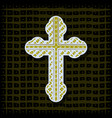 orthodox cross - background vector image vector image