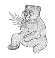 Panda coloring book for adults vector image