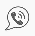 phone icon contact call center support service vector image vector image