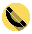 phone sign flat black icon vector image vector image