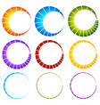 preloader buffer symbol elements circular vector image vector image