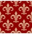 Red royal fleur-de-lis seamless pattern vector image vector image