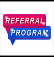 referral program vector image