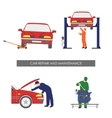 Repair and car maintenance Vehicle repair vector image