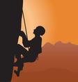 rock climbing vector image vector image