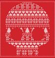 scandinavian pattern sugar skull on red vector image vector image