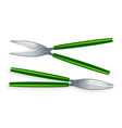 scissor metal craft object 3d realistic vector image