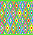 seamless geometric rhombus color pattern vector image vector image
