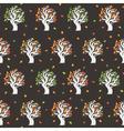 Seamless retro tree pattern vector image vector image