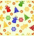 Seamless texture snowman and snowflake vector image vector image