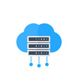 server hosting services vector image vector image