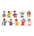 set children avatars vector image