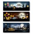 set halloween banners vector image vector image