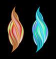 set twisted colorful flow liquid shape acrylic vector image