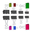 small binder clips isolated on white vector image vector image
