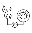 smart hot control icon outline style vector image