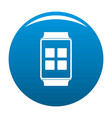 smart watches icon blue vector image vector image