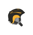 snowboarding helmet flat icon isolated vector image vector image