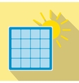 Solar panel with sun icon vector image vector image