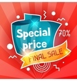 Special price Sale banner Advertising flyer for vector image vector image