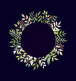 spring leaves in flat style vector image vector image