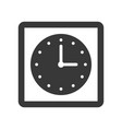 square wall clock icon pixel perfect vector image vector image