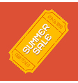 Summer Sale Ticket vector image vector image