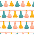 tassels seamless background colorful vector image