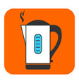 the electric kettle icon vector image vector image