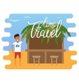 Travel time vacation vector image vector image