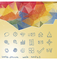 Triangle background Hand-drawn web icon vector image