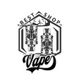 vape vape shop vaping vector image vector image