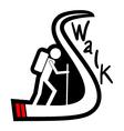 Walk icon vector image vector image