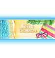 watercolor summer banner vector image vector image