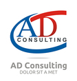 letter ad consulting icon business vector image