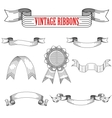 Medieval abstract ribbons set for heraldry design vector image