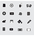 data storage media stickers eps10 vector image