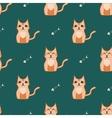 Orange and dark green cat backround vector image