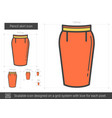 pencil skirt line icon vector image