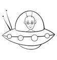a children coloring bookpage a cute alien image vector image vector image