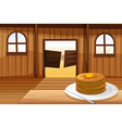 A plate with pancakes vector image vector image