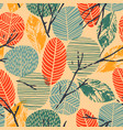 abstract autumn seamless pattern with trees vector image vector image