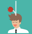 apple falling dawn to businessman head vector image