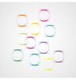 background with squares and circles vector image vector image