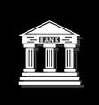 bank icon flat vector image vector image