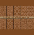 Beautiful geometric seamless patterns set vector image