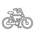 bicycle silhouette isolated icon vector image vector image