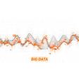 big data wave visualization futuristic vector image vector image