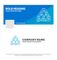 blue business logo template for team build vector image